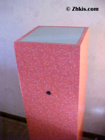 lighted pedestal with switch
