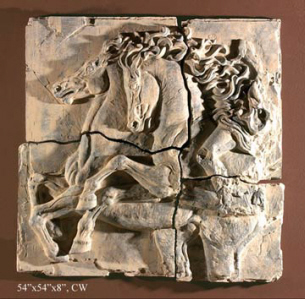 horse wall frieze