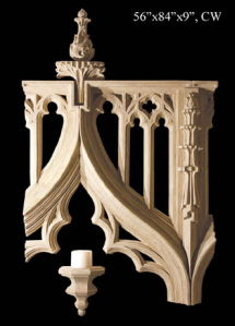gothic wall sculpture