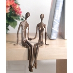 Shelf Sitting Lovers Statue