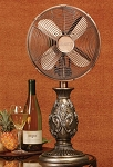 "10"" Table Fan - Fleur-de-lis"
