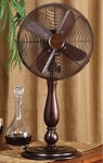 Oscilliating Brown Table Fan