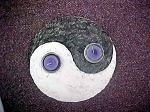 Yin and Yang Votive or Tea Light Holder