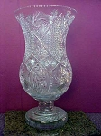 Large Glass Floor Vase with Big Mouth