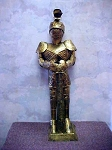 Gold Tin Knight Statue