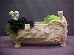 Cherub Planter With Grape Motif
