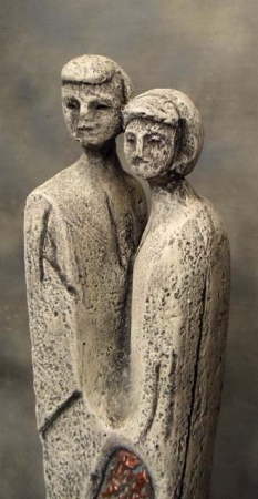 Abstract Couple Statue