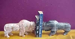 Bison Marble Bookends