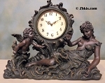 Victorian Lady and Cherub Mantel Clock