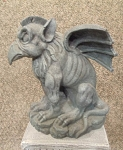 Bird Beak Gargoyle Statue (Grey Stone)