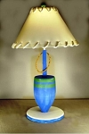 Blue and Green Buoy Lamp