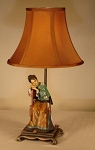 Lady on Chair Lamp