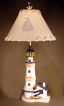 Lighthouse with Sailboat Lamp