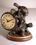 Turtle Mantle Clock