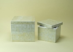Mosaic Rustic White Box Set of Two