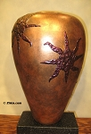 Copper Finished Sun Vase