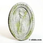 Weathered Cameo Wall Plaque