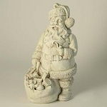 Santa With Bag of Toys Statue