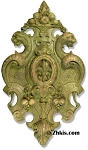 Large Ornate Fleur De Lis Wall Plaque