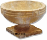 Banded Top Urn With Base