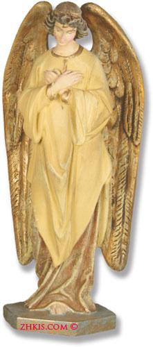 Angel Head Bowed Statue