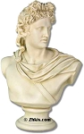 Large Apollo Bust Statue