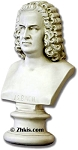Bach Bust Statue