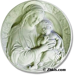 Large Madonna with Child Wall Plaque