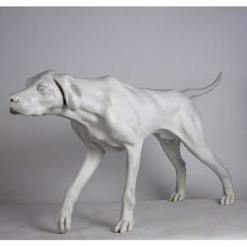 Life Size Pointer Dog Statue