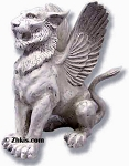 Winged Griffin Statue