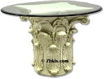 Greek Corinthian Capital Patio Table