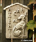 Italian Beware of Dog Wall Plaque