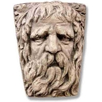 Gothic Old Man Face Wall Plaque