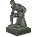 Athlete By Rodin Statue