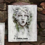 Vappa Female Wine goddess Wall Plaque