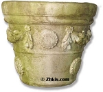 Flower Motif Planter Pot Medium
