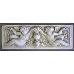 Two Cherubs with Urn Wall Plaque