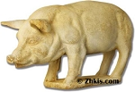 Outdoor Pig on Base Statue