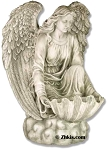Kneeling Angel Birdbath