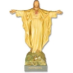 Jesus with Arms Out Statue (full color)