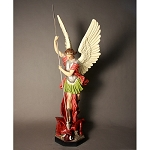 Large Saint Michael Slaying Devil Statue