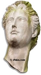 Large Greek Head Remnant Statue