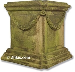 Large Square Pedestal with Swag