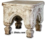 Ornate Outdoor Stool with Legs
