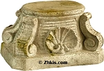 Rustic Short Scroll Pedestal
