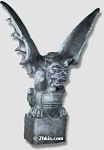Large Gargoyle on Block Statue