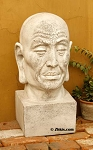 Large Asian Head Statue