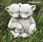 Teddy Bear Twins Statue