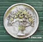 Round Wall Plaque With Flowers