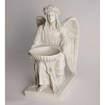 Angel With Basin Statue